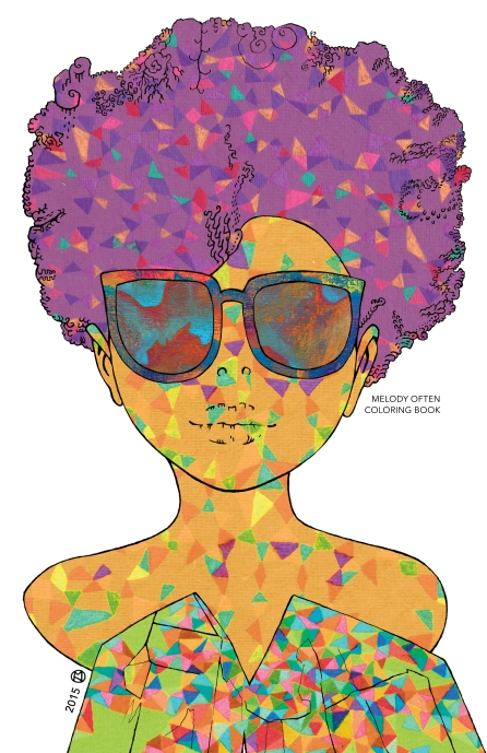 Portrait Coloring Book Cover