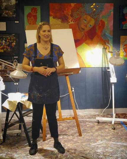 Live Painting Speaking pic by Indiebyrd